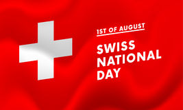1st of August Swiss national day banner vector. Illustration vector illustration