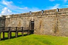St Augustine堡垒, Castillo de圣马科斯 免版税图库摄影