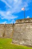 St Augustine堡垒, Castillo de圣马科斯国家历史文物 库存照片