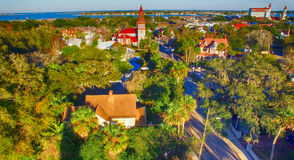 St Augustine from the air, Florida Stock Photo