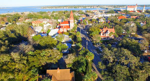 St Augustine from the air, Florida Royalty Free Stock Image