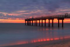 St Augustine Beach Pier image libre de droits