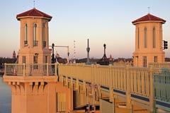 St. Augustine - brug bij zonsopgang stock fotografie