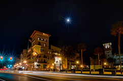 St augustine city street scenes atnight Stock Photo