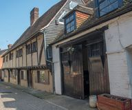 St Augustine Cottages Canterbury fotos de stock royalty free