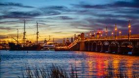 St Augustine, de tijdtijdspanne van Florida, cityscape van de V.S. stock video