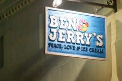 ST AUGUSTINE, EL 8 DE ABRIL DE 2018: Tienda de helado de Ben y de Jerry en el St Foto de archivo