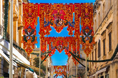 St Augustine Feast de La Valette, Malte Photographie stock