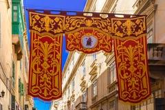 St Augustine Feast de La Valette, Malte Image stock
