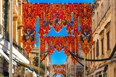 St Augustine Feast de Valletta, Malta Fotografia de Stock