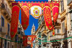 St Augustine Feast de Valletta, Malta Fotografia de Stock Royalty Free