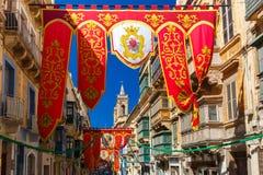 St Augustine Feast van Valletta, Malta Royalty-vrije Stock Fotografie