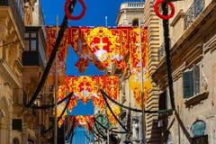 St Augustine Feast van Valletta, Malta Royalty-vrije Stock Foto