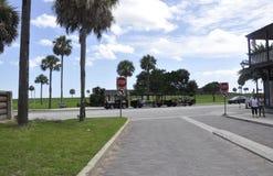 St Augustine FL, am 8. August: Straßenansicht von St Augustine in Florida lizenzfreies stockbild