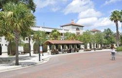 St Augustine FL, Augusti 8th: Bussstation från St Augustine i Florida Royaltyfri Bild