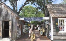 St Augustine FL, Augusti 8th: Forntida gata i det koloniala länet av St Augustine från Florida Royaltyfria Foton