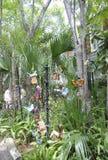 St Augustine FL, Augusti 8th: Historisk husborggård i det koloniala länet av St Augustine från Florida Royaltyfri Bild