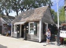 St Augustine FL, el 8 de agosto: Casa histórica en el condado colonial de St Augustine de la Florida Imagenes de archivo