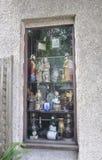 St Augustine FL, el 8 de agosto: Ventana de la tienda en el condado colonial de St Augustine de la Florida Imagenes de archivo
