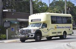 St Augustine FL, o 8 de agosto: Ônibus da cidade em St Augustine de Florida Fotografia de Stock
