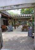 St Augustine FL, o 8 de agosto: Pátio histórico da casa no condado colonial de St Augustine de Florida Imagens de Stock