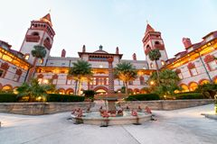 St Augustine Flagler College as seen at sunset, Florida.  Stock Photography