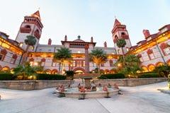 St Augustine Flagler College como visto no por do sol, Florida Fotografia de Stock