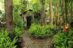 Beautiful artistic garden in St. Augustine, Florida royalty free stock photo