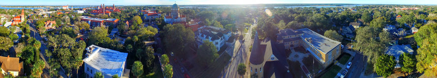 St Augustine, Florida. Beautiful aerial view on a sunny day Royalty Free Stock Photos