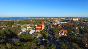 St Augustine, Florida. Beautiful aerial view on a sunny day Royalty Free Stock Photo