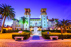 St. Augustine, Florida City Hall. St. Augustine, Florida, USA at  City Hall and Alcazar Plaza Stock Photo