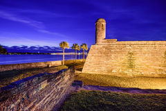 St. Augustine, Florida Fort. St. Augustine, Florida at the Castillo de San Marcos National Monument Royalty Free Stock Image