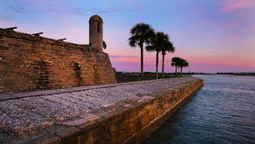 St. Augustine Florida Fort stock video