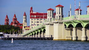 St Augustine Florida horisont arkivfilmer