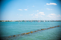 St. Augustine Florida Landscape. Over atlantic ocean Stock Image