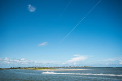 St. Augustine Florida Landscape. Over atlantic ocean Royalty Free Stock Photo