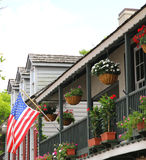 St. Augustine, Florida. old city town balcony Stock Image