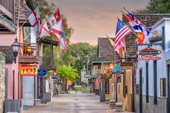 St Augustine Florida Shopping Street Fotografia Stock Libera da Diritti