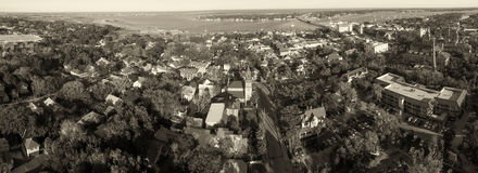 St Augustine, Florida. Stunning aerial view at dusk Stock Images