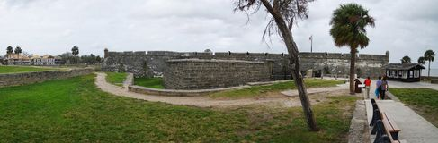 Historical Castillo de San Marcos in St. Augustine on October 23, Florida, USA stock images