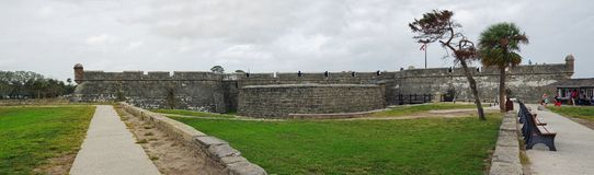Historical Castillo de San Marcos in St. Augustine on October 23, Florida, USA royalty free stock images