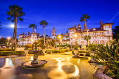 St. Augustine Florida. St. Augustine, Florida, USA at Alcazar Plaza Stock Photography