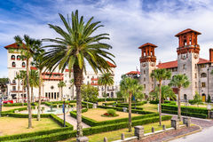 St. Augustine Florida. St. Augustine, Florida, USA city hall and Alcazar Courtyard Royalty Free Stock Photos