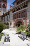 St Augustine, Florida USA - Flagler-College-Hof stockfoto