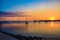 St Augustine Florida, USA på den Matanzas floden och bron av lejonet royaltyfri foto
