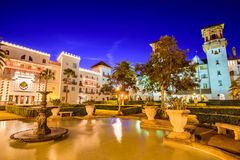 St. Augustine, Florida. USA plaza at twilight Royalty Free Stock Image
