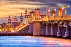 St. Augustine, Florida, USA Skyline. At Bridge of Lions Royalty Free Stock Photo