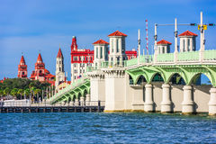 St. Augustine, Florida, USA Skyline. At Bridge of Lions Royalty Free Stock Images
