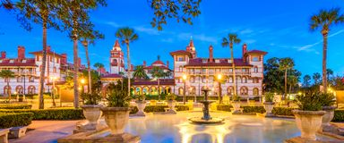 St. Augustine, Florida, USA. Panorama at twilight Royalty Free Stock Image