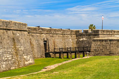 St. Augustine Fort, Castillo de San Marcos National Monument Stock Image